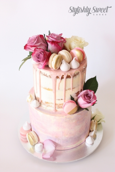 WATERCOLOUR DRIP CAKE