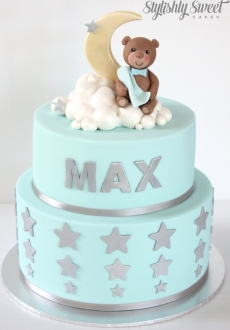 Bear_star_christening cake