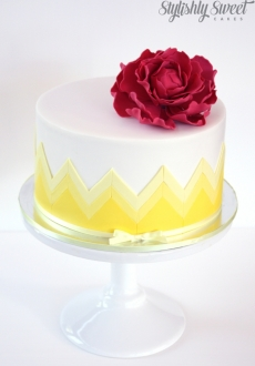 yellow chevron cake_01