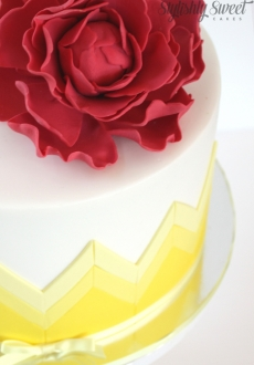 yellow chevron cake_02