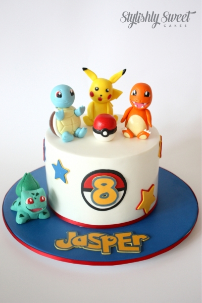 POKEMON CAKE SINGLE 1 Pokemon Birthday Cake Designs