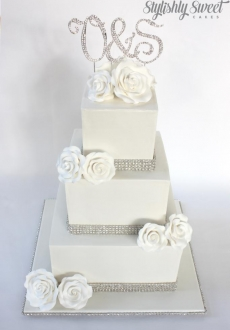 Bling Diamond wedding cake