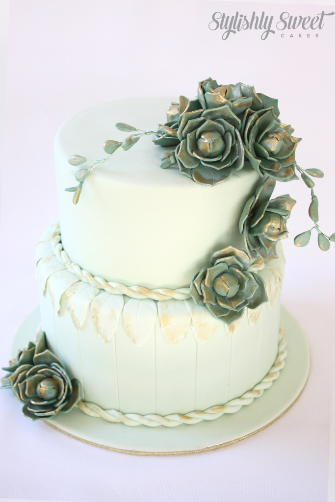 succulents wedding cake_04