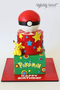 3 tier pokemon birthday cake