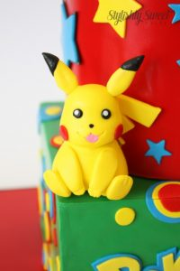Pikachu birthday cake topper